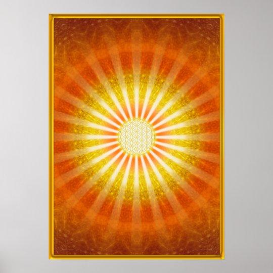 Lichtblicke - Gold Rahmen - Poster