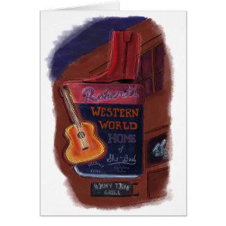 Lichter auf Broadway, Nashville, Tennesse - Karte