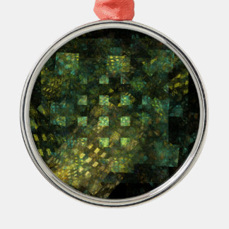Lichter in der Stadt-abstrakten Kunst rund Silbernes Ornament
