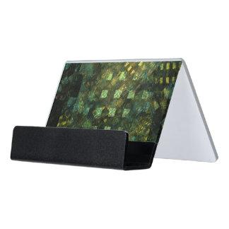 Lichter in der Stadt-abstrakten Kunst Schreibtisch-Visitenkartenhalter