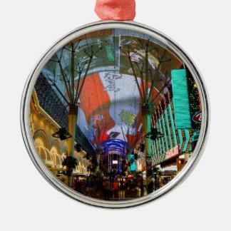 Lichter von Fremont-Straße Silbernes Ornament
