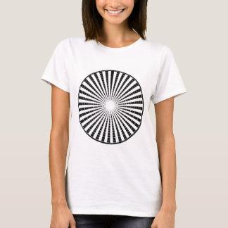 Lichtquelle - schwarzes weißes Schein-Rad n T-Shirt