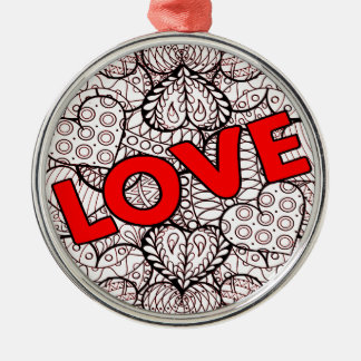Liebe 1 silbernes ornament