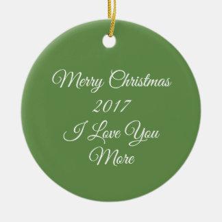 Liebe 2017 der frohen Weihnacht-I Sie mehr Keramik Ornament