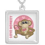 Liebe-Affe - niedliche Affe-Anhänger-Halskette