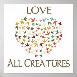 Liebe alle Geschöpfe Posterdrucke