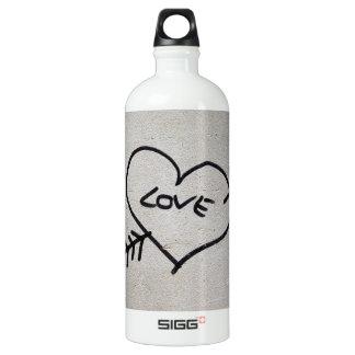 Liebe Aluminiumwasserflasche