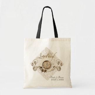 Liebe am ersten Sip-Cappuccino Wedding Brauttasche Leinentasche