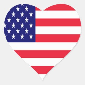 Liebe Amerika USA I Herz-Aufkleber
