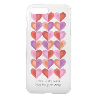 Liebe an es ist reichstes iPhone X/8/7 plus klaren iPhone 8 Plus/7 Plus Hülle
