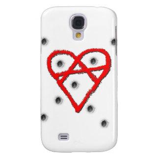 Liebe-Anarchie-Symbol Galaxy S4 Hülle