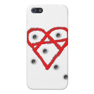 Liebe-Anarchie-Symbol iPhone 5 Cover