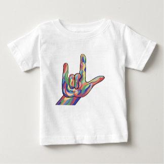 Liebe ASL I dämpften Sie Töne Baby T-shirt