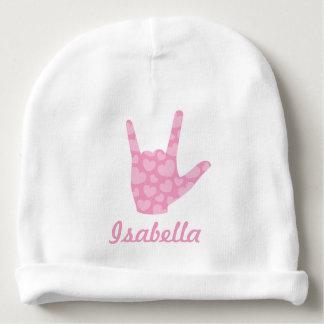 Liebe ASL I Sie Babymütze