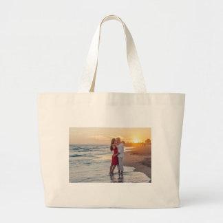 Liebe auf dem Strand Jumbo Stoffbeutel