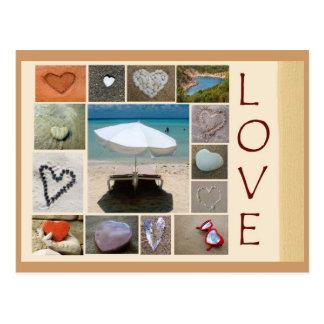 Liebe auf dem Strand Postkarte