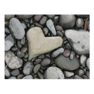 Liebe auf den Felsen Postkarte