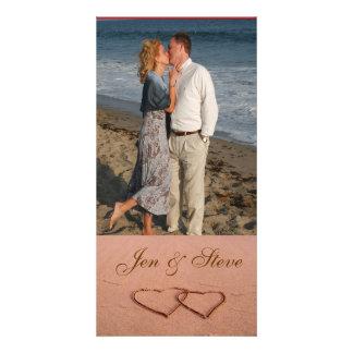 Liebe auf der Strand-Fotoschablone Photokartenvorlagen
