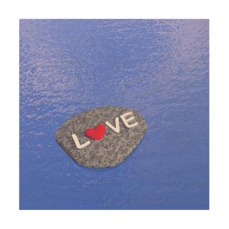 Liebe auf Stein - 3D übertragen Holzleinwand