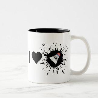 Liebe-Badminton des Sprengstoff-I Zweifarbige Tasse