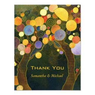 Liebe-Baum-einzigartige Hochzeit danken Ihnen 10,8 X 14 Cm Einladungskarte