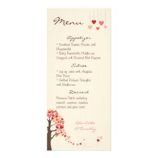 Liebe-Baum-Herzen, die Menü Wedding sind Vollfarbige Werbekarte
