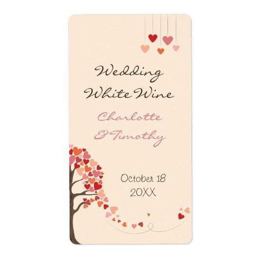 Liebe-Baum-Herzen, die Wein-Aufkleber Wedding sind