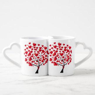 Liebe-Baum-Liebhaber-Tassen Duo-Tassen