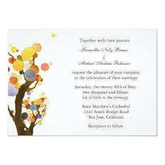 Liebe-Bäume (im Weiß): Hochzeits-Einladungen 12,7 X 17,8 Cm Einladungskarte