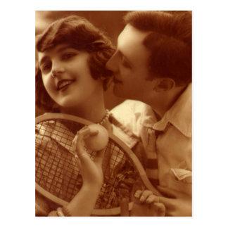 Liebe bedeutet nichts im Tennis Postkarte
