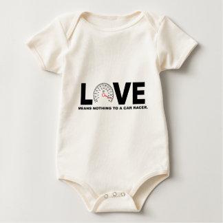 Liebe bedeutet nichts zu einem AutoRacer 2 Baby Strampler