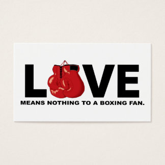 Liebe bedeutet nichts zu einem Verpacken-Fan Visitenkarte