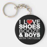 Liebe beschuht Schnaps-Jungen mit Tätowierungen Schlüsselband