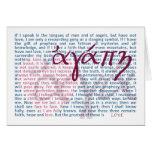 Liebe-Bibel-Vers auf christlicher Karte