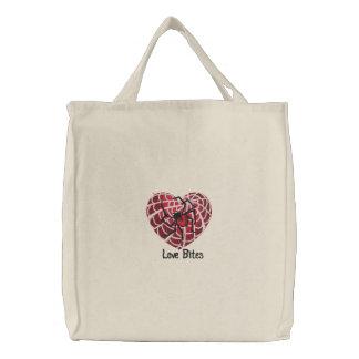 Liebe-Bisse Bestickte Tasche