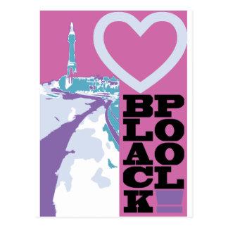 Liebe Blackpool Postkarte