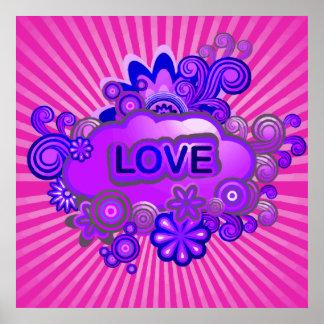 Liebe-Blumen-Explosion Poster