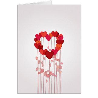 Liebe-Blumen-Karte