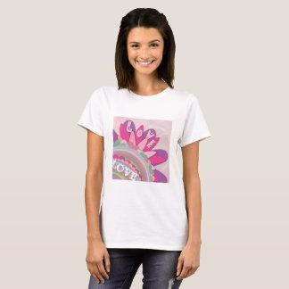 Liebe, Blumen, rosa u. lila T-Shirt