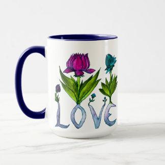Liebe-Blumen Zwei-Tonten Tasse
