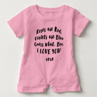 Liebe Boo Sie Gedicht babysuit Baby Strampler