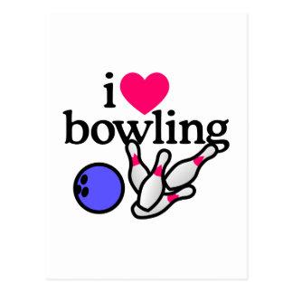 Liebe-Bowling Postkarte