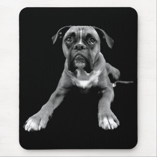 Liebe-Boxer-Welpen-Hundeschwarzes Mousepad