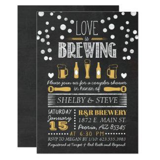 Liebe braut Brautparty-Einladung Karte