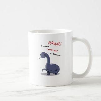 Liebe Brontosaurus rawr Durchschnitte I Sie Kaffeetasse