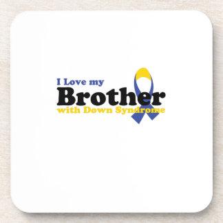 Liebe-Bruder mit Down-Syndrom Untersetzer