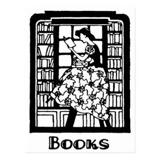 Liebe, Bücher zu lesen Postkarte