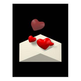 Liebe-Buchstabe Postkarte