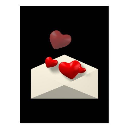 Liebe-Buchstabe Postkarten