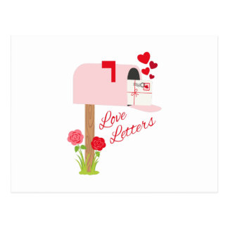 Liebe-Buchstaben Postkarte